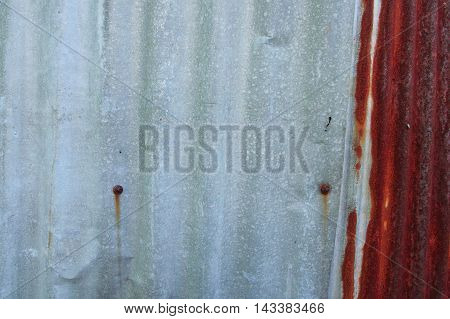 Old Rusty Zinc Wall