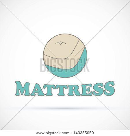 Logo circle sign matress shop vector illustration