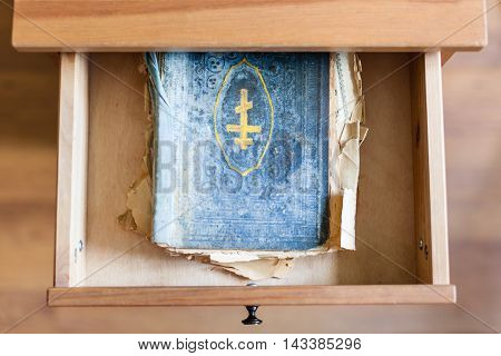 Shabby Ritual Book In Open Drawer