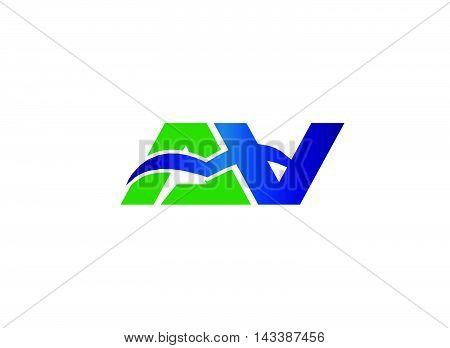 Letter a and V logo vector design