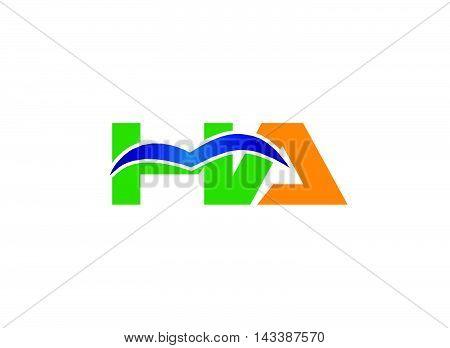 AH logo. AH company group linked letter logo