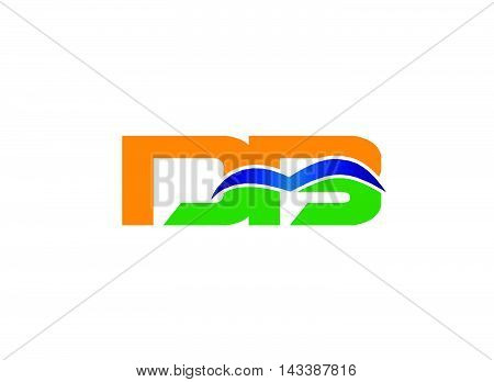 DB company linked letter logo design template