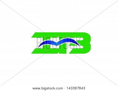 Bi logo. BI company group linked letter logo