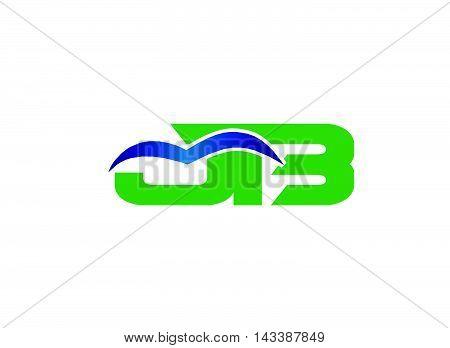 BJ company group linked letter logo design