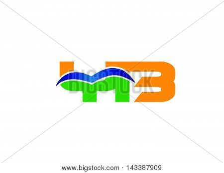 Elegant alphabet B and Y letter logo. BY Vector illustration
