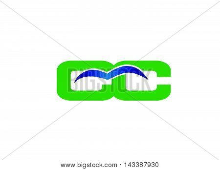CC logo. Letter c and C logo vector