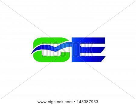 Letter E and C logo vector design template