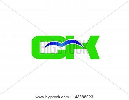 Elegant alphabet K and C letter logo. Vector illustration