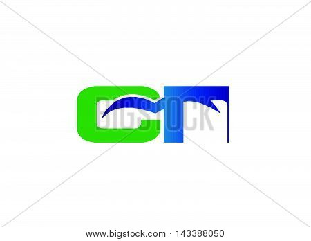 FC company linked letter logo design template