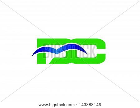 Letter D and C logo vector, dc logo