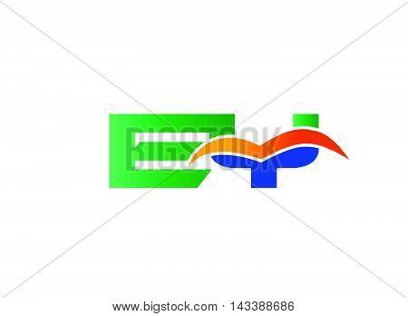 EY Logo. EY company linked letter logo
