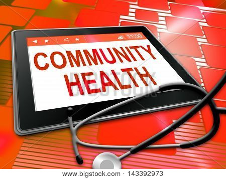 Community Health Shows Group Care 3D Illustration
