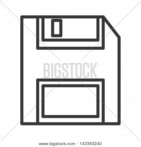 diskette gadget device technology icon. Flat and Isolated design. Vector illustration
