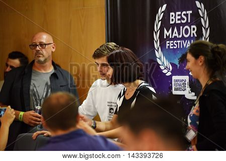 Dj Martin Garrix Signs Autographs For Fans At A Press Conference