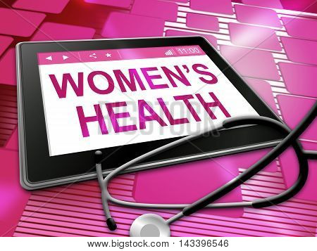 Womens Health Shows Female Care 3D Illustration