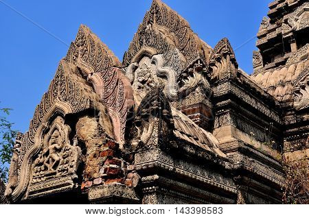 Samut Prakan Thailand - January 15 2013: The Phimai Sanctuary from Nakhon Ratchasima at Ancient Siam heritage park