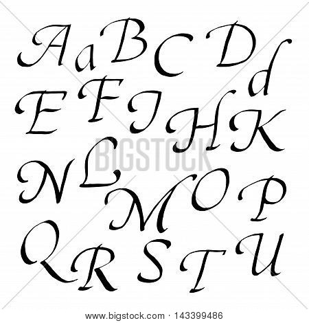 Hand-written font in black ink italic lowercase letters.