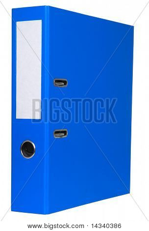 Blue file isolated on white background