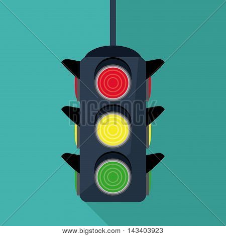 semaphore trafficlight sign warning road street icon. Colorful design. Vector illustration