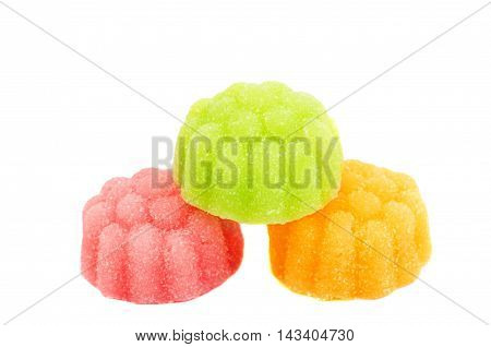 jelly candy confiture on a white background