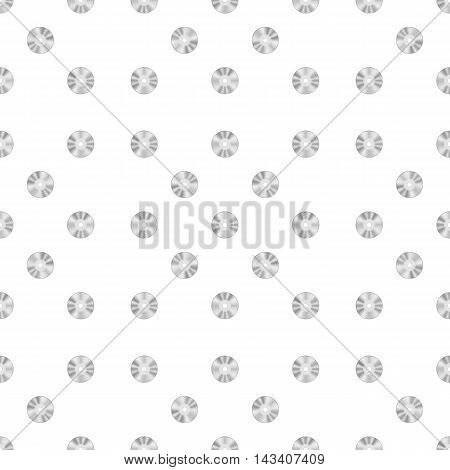 Compact Disc Seamless Pattern on White Background