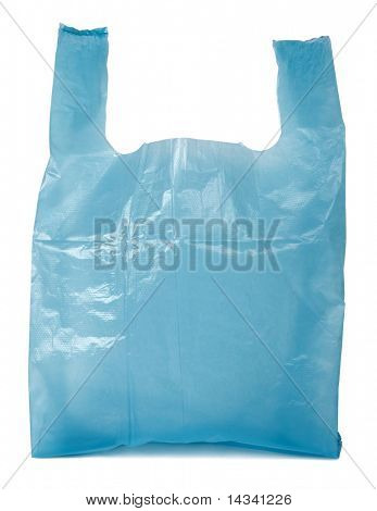 Bolsa de plástico azul