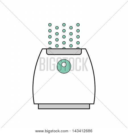 Vector illustration of a humidifier. Flat vector humidifier icon. Humidifier for children's room. Air purifier.