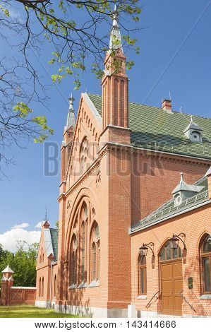Poland Gliwice Disused Restored Funeral House at Jewish Cemetary currently a museum