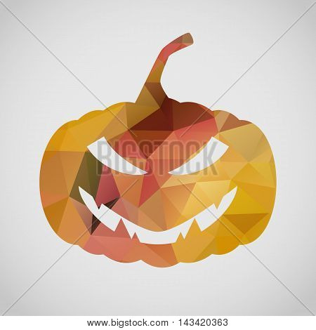 Halloween Card With Sly Pumpkin Of Triangle