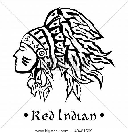 the illustration dedicated to the American Indians.