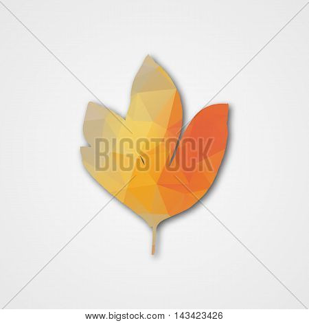 Background With Autumn Leaf Of Triangles