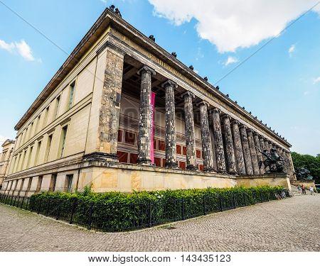 Altesmuseum Meaning Museum Of Antiquities In Berlin (hdr)