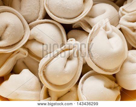 Foodstuff: Texture Of Raw Ravioli