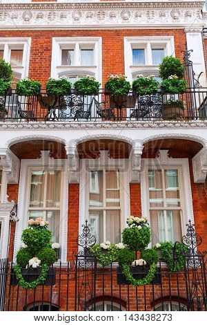 Beautiful Decorated Fence In Kensington, London