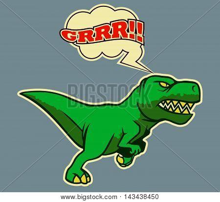 A vector illustration of running Dino .