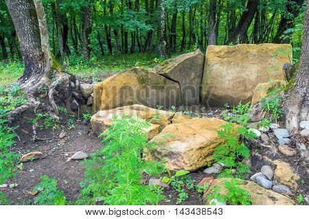The Stones Of The Broken Ancient Dolmen