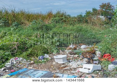 Garbage And Junk Dump To The Landfill