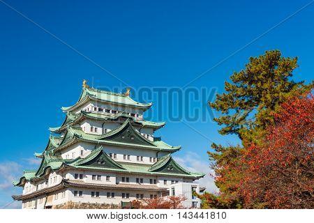 Nagoya, Japan at the castle during autumn.