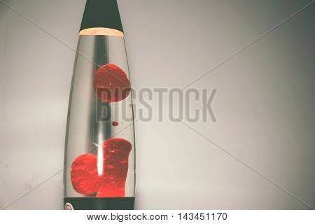 Red Lava Lamp Photography