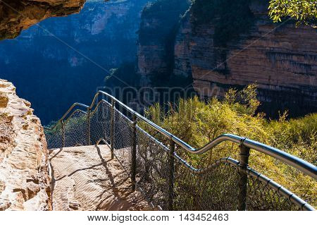 Mountain Track Over Cliff Edge