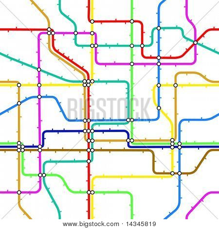 Seamless editable vector tile of a generic subway map