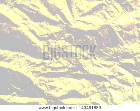 Art paper texture. Unique crumpled soft yellow and grey color tone of paper sheet for background.