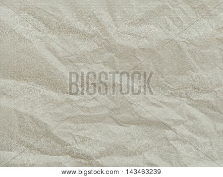 Art paper texture. Unique crumpled white paper sheet for background.