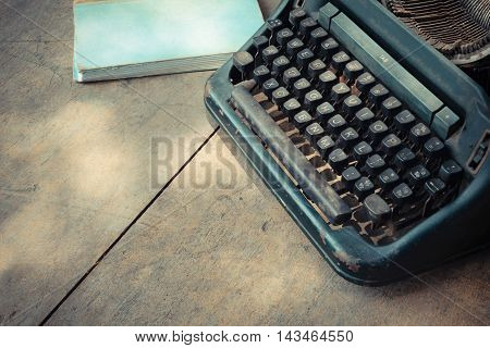 Typewriter And Notebook
