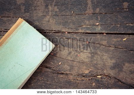Old Note Book On Wood
