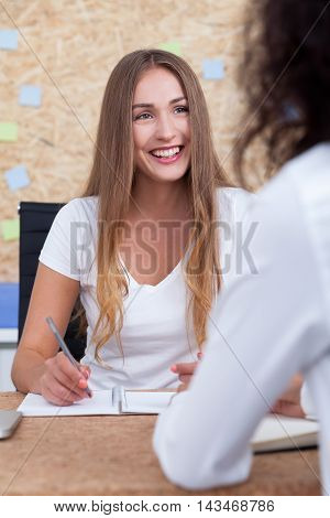 Hr Worker With Long Hair