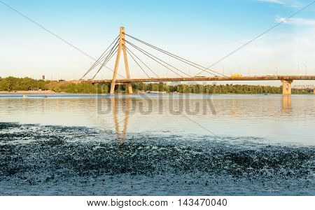 View Of The Moskovsky  Bridge In Kiev