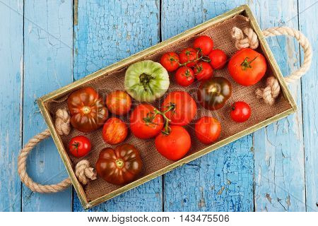 Set Of Different Sorts Of Tomatoes