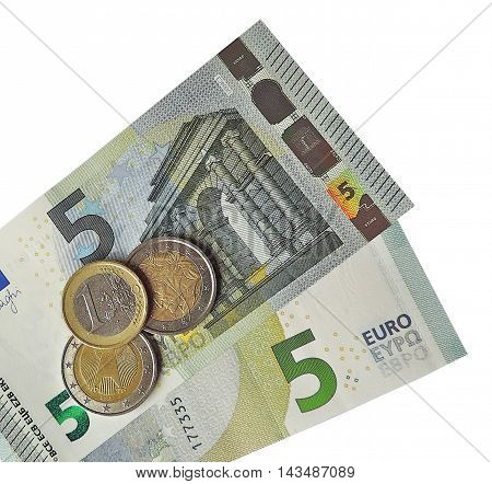Euro money, utopian currency, isolated on white background