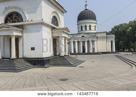 Chisinau, Moldova - July 30, 2016: Cathedral Park On July 30, 2016 In Chisinau, Moldova. Nativity Ca